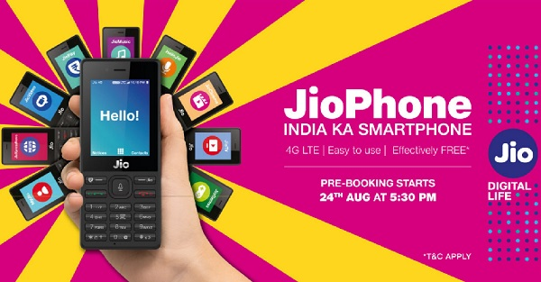 Jio Phone, 4G feature phone, Reliance Jio, JioPhone Smartphone, 4G smartphone JioPhone, JioPhone, VoLTE smartphone, JioPhone Online Booking, How to Book JioPhone Online