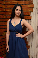 Radhika Mehrotra in a Deep neck Sleeveless Blue Dress at Mirchi Music Awards South 2017 ~  Exclusive Celebrities Galleries 033.jpg