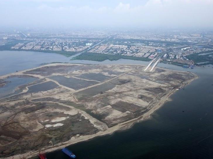Melongok aktifitas pembangunan Golf Island teluk Jakarta