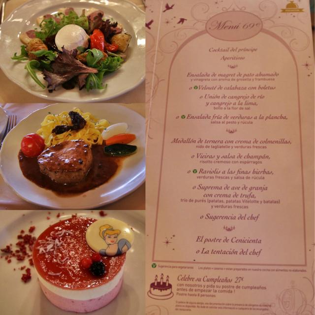 Menús del restaurante Auberge de Cendrillon