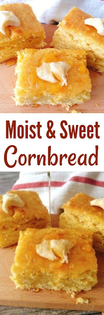 Easy Sweet Moist Cornbread