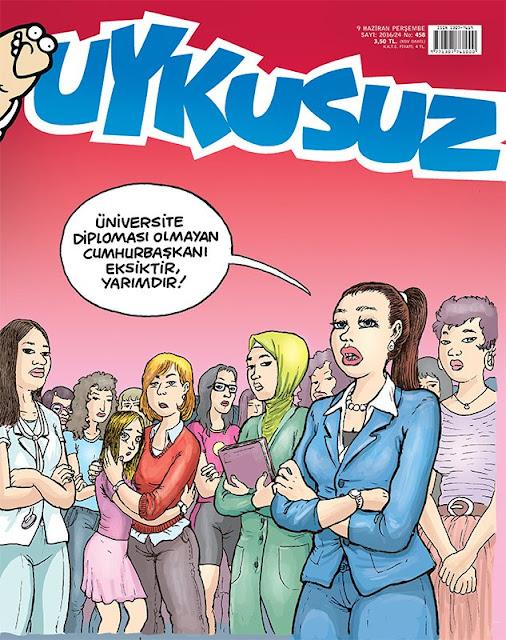 Uykusuz Dergisi - 9 Haziran 2016 Kapak Karikatürü