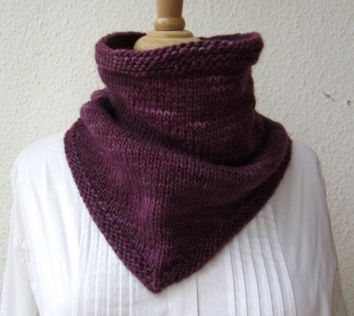 Daily Knitting Patterns Bandana Cowl Free Pattern