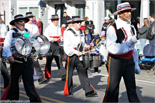 Banda de Música en el Desfile de Acción de Gracias de Plymouth