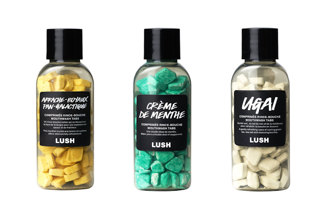 Lush comprimés rince-bouche solide