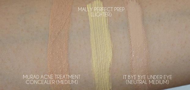 what is concealer wardrobe, amazing cosmetics perfection stick, amazing cosmetics a little amazing concealer, mural acne treatment concealer, mally perfect prep, it bye bye under eye