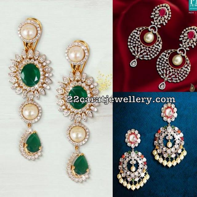 Diamond and Pachi Earrings