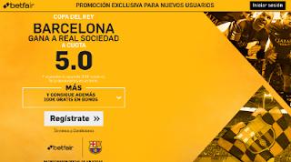 betfair supercuota 5 Barcelona gana Real Sociedad Copa 19 enero
