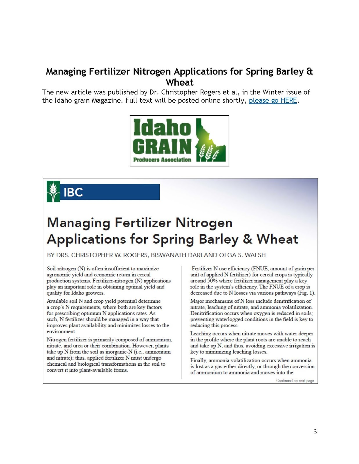 essay on nitrogen fertilizers Read this essay on fertilizer come browse our large digital warehouse of free sample essays nutrients in most inorganic fertilizers — nitrogen.