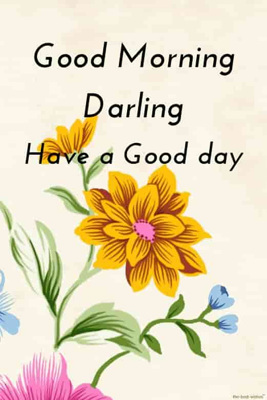 good morning darling have a good day with card