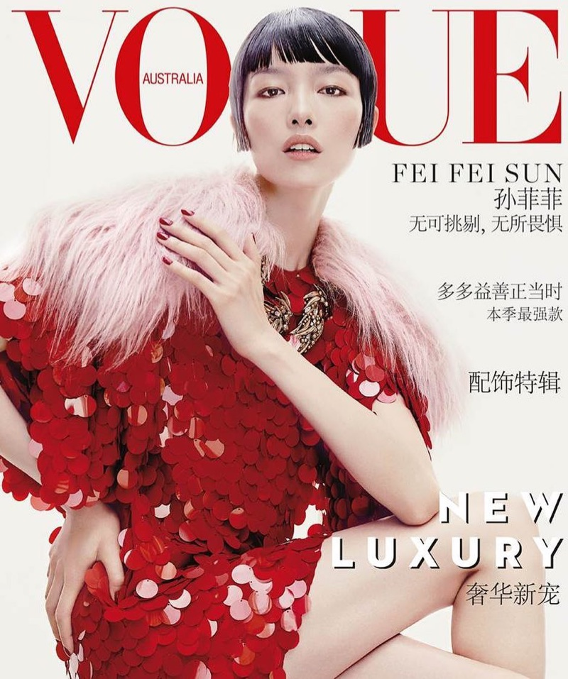 Fei Fei Sun Turns Up the Glam Factor for Vogue Australia