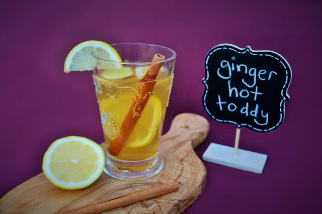 A Scottish winter hot toddy with fresh ginger to warm the body and fight off colds.