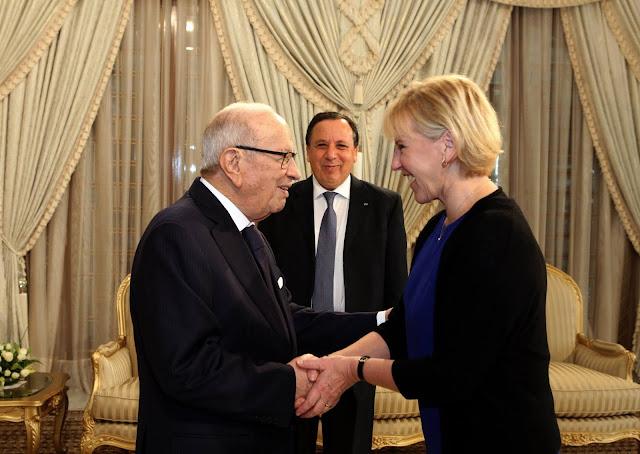 La Chef de la Diplomatie suédoise reçue à Carthage