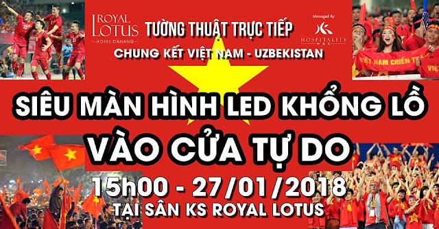 Khách sạn Royal Lotus - Trực tiếp chung kết trên MÀN HÌNH LED KHỔNG LỒ 352 inch