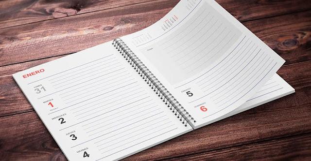 Agenda 2019 gratis editable y personalizable