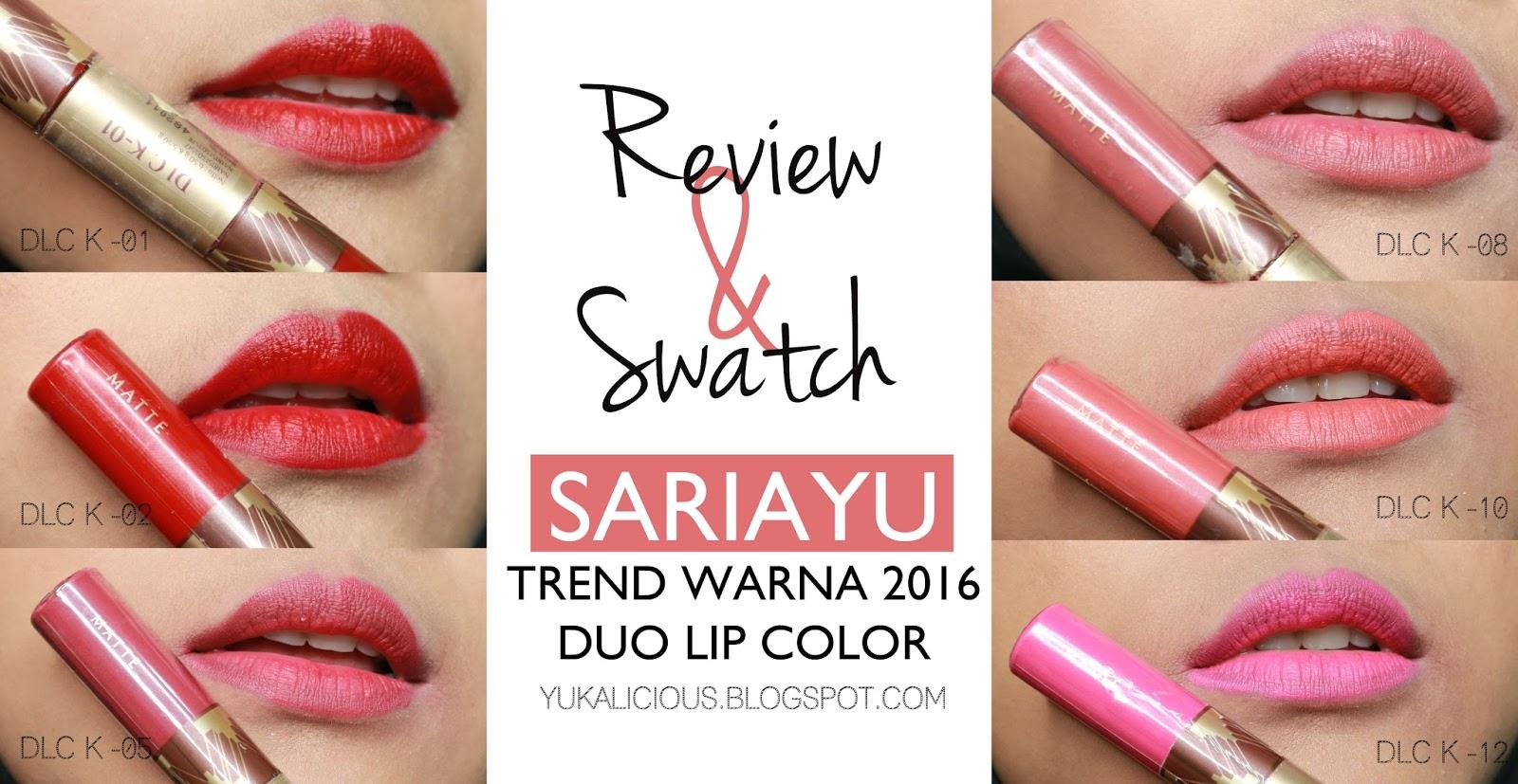 Sariayu Color Trend 2016 Duo Lip Krakatau 03 55 65 Gr Spec E Senses Gloss Me 05 320475 Ini Adalah Inivosi Terbaru Dari Dimana Dalam 1 Kemasan Kamu Mendapatkan 2