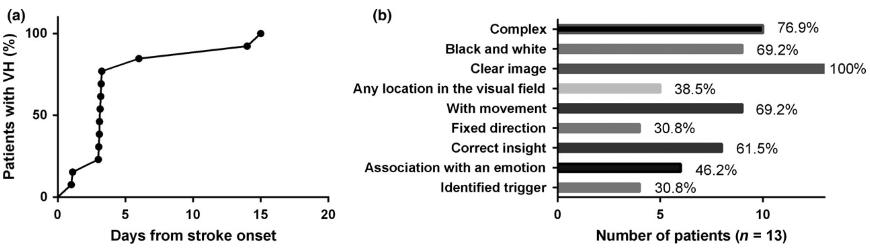 図:幻覚をみた脳卒中患者