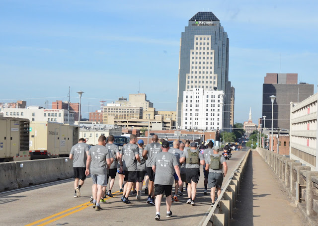 Shreveport and Bossier City law enforcement officers run to support Special Olympics kids