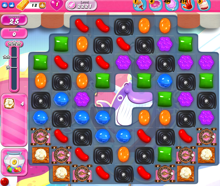 Candy Crush Saga level 2221