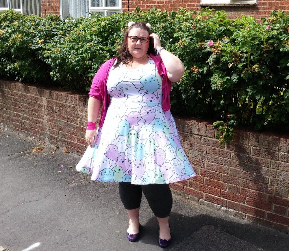 CowCow-kawaii-ghosts-plus-size-dress-Amazon www.xloveleahx.co.uk