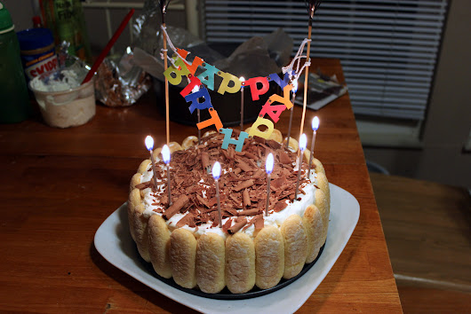 Khoi's Birthday Part 2: Tiramisu Ice Cream Cake