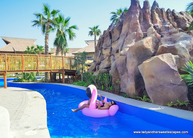 Lady in Lapita hotel lazy river
