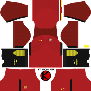 AS Roma Kits 2017/2018 - Dream League Soccer