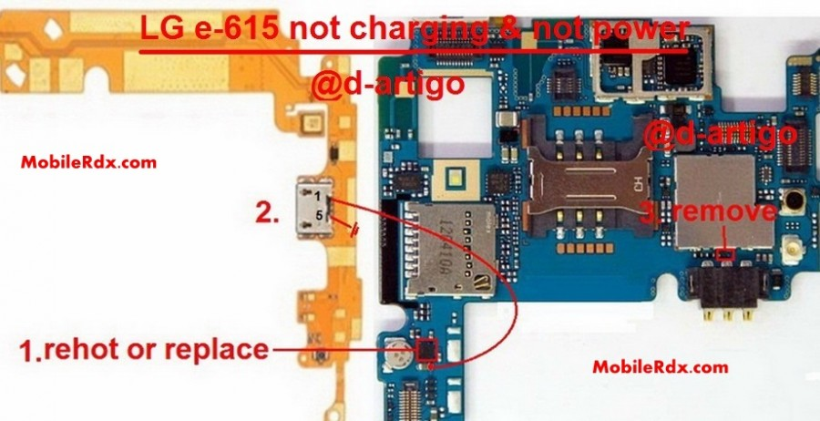 Lg E615 Not Charging Problem Solution By Jumpers