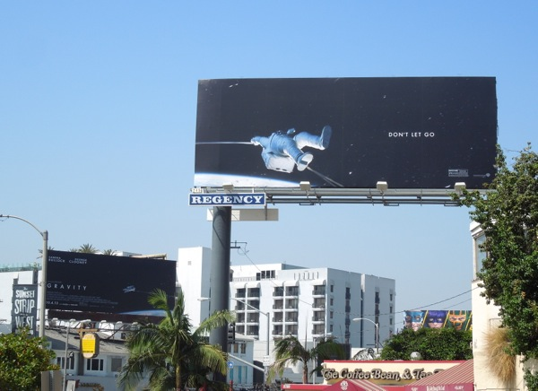 Gravity Don't let go movie billboards