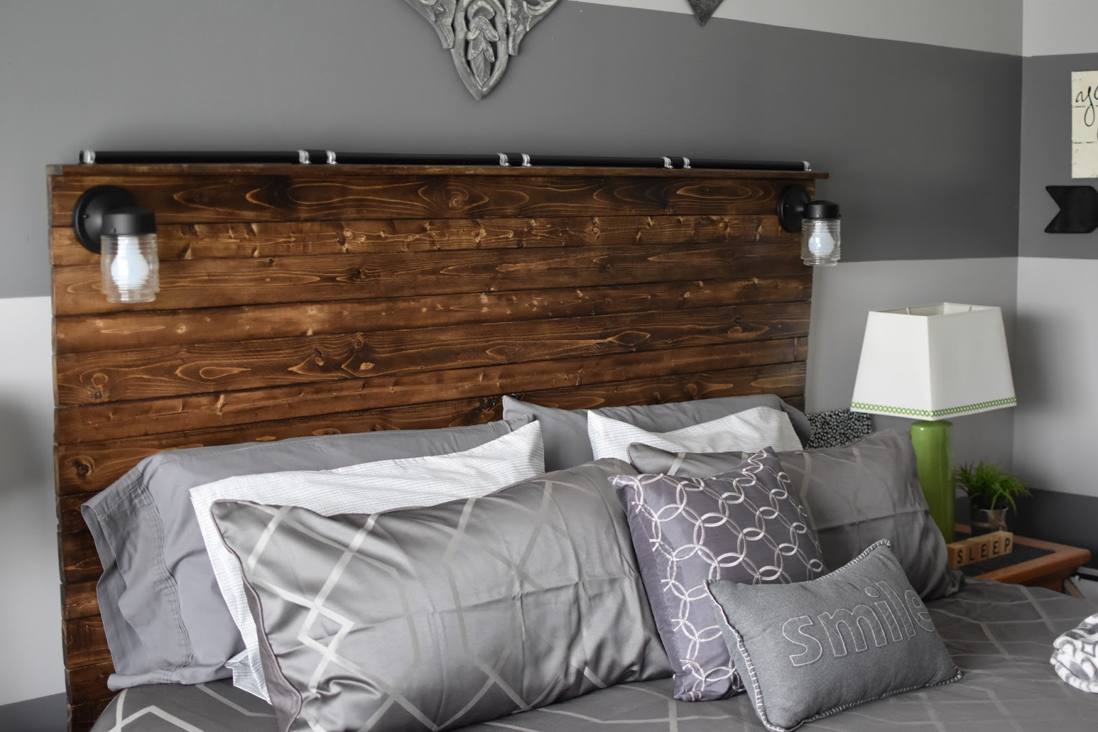 Paper Paint And Pine DIY Wooden Plank Headboard