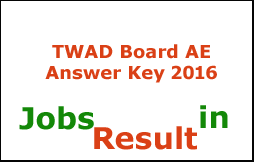 TWAD Board AE Answer Key 2016