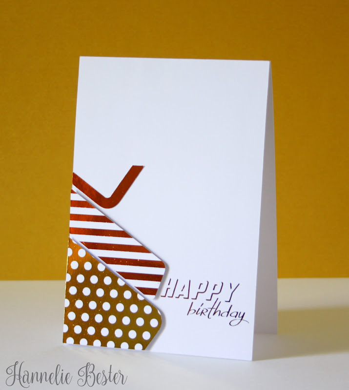 foiled happy birthday in dots and stripes