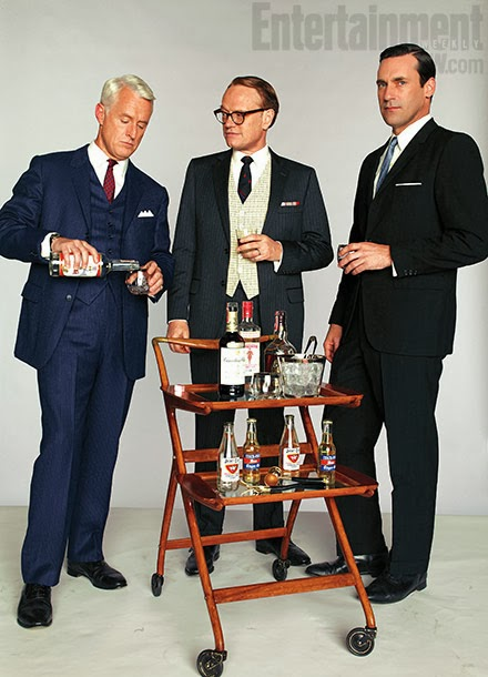 Mad Men and vintage bar cart
