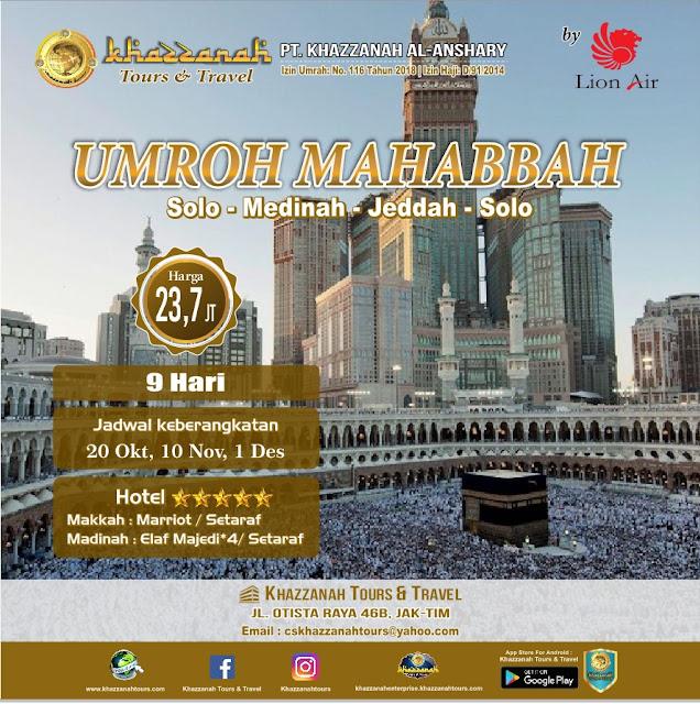 Promo Paket Umroh Murah Bulan Oktober 2018 di Kota Bandung