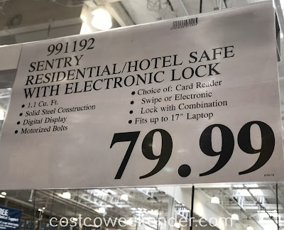Deal for the SentrySafe Residential/Hotel Security Safe (CA110ES) at Costco