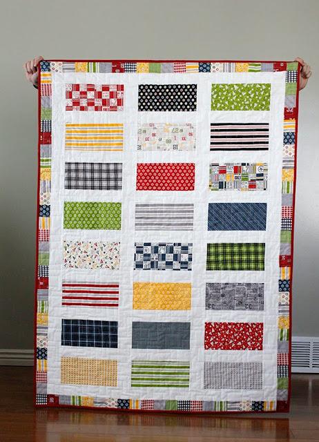 Jolly Bar quilt with Varsity fabrics