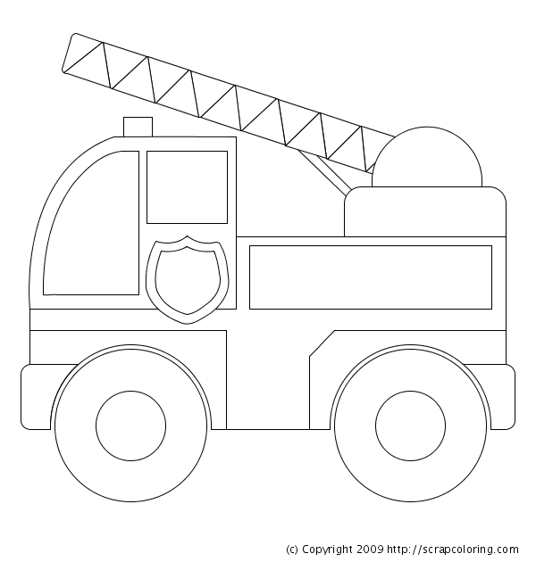 fire truck coloring pages pdf - Free Coloring Pages for Kids
