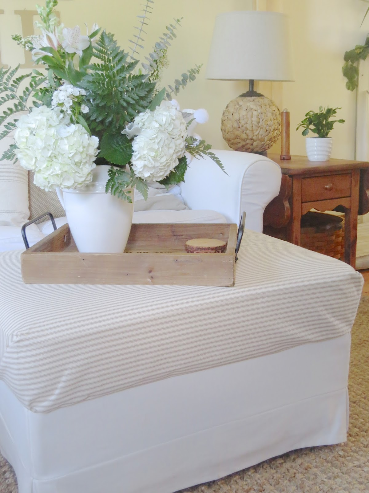Ikea Rp Footstool Ottoman Blekinge White