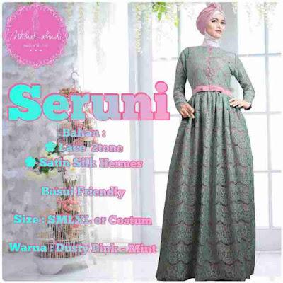 Model Baju Gamis Batik Karenina Modern Terbaru