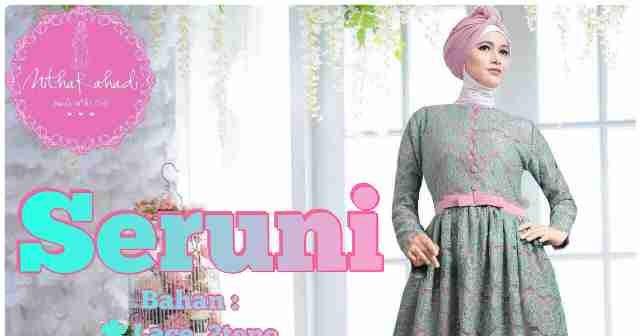 10 Model Baju Gamis Batik Karenina Modern Terbaru 2017