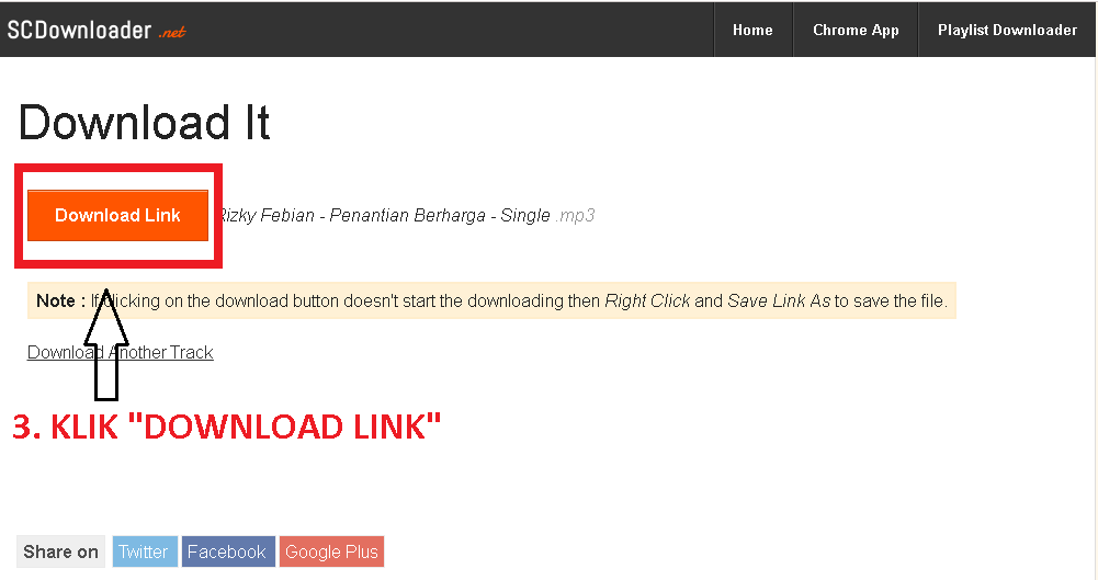 cara download lagu di scdownloader