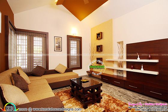 Furnished guest living interior