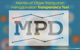 Membuat Objek Transparan menggunakan Transparancy Tool