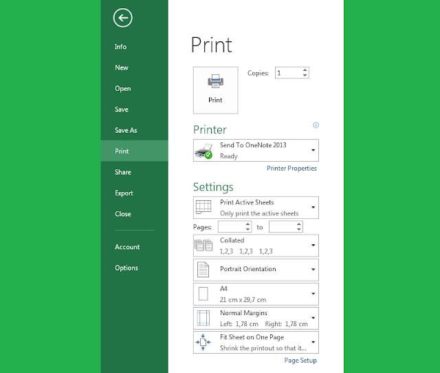 Tutorial Cara Print di Excel Yang Baik dan Benar