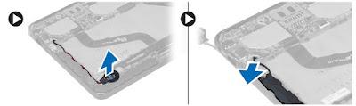 Removing the speaker Dell Latitude 10 – ST2e