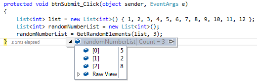 get random numbers or items from list od numbers in asp.net C#
