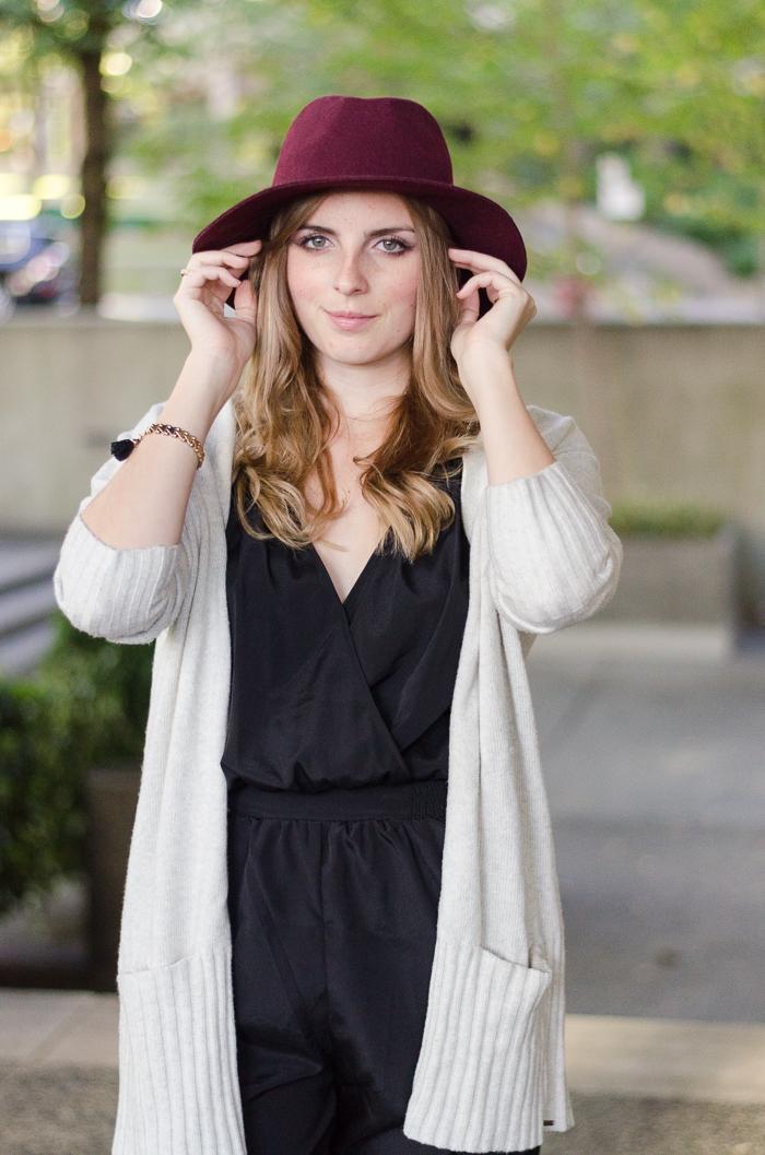 Burgundy Floppy Felt Hat