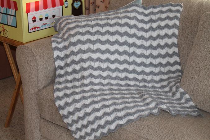 Knitting A Chevron Blanket Stitches By Debbie