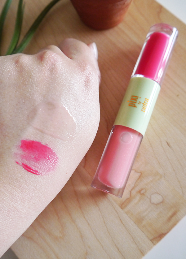 Pixi GelTint & SilkGloss PinkTint and PrettyGloss swatches