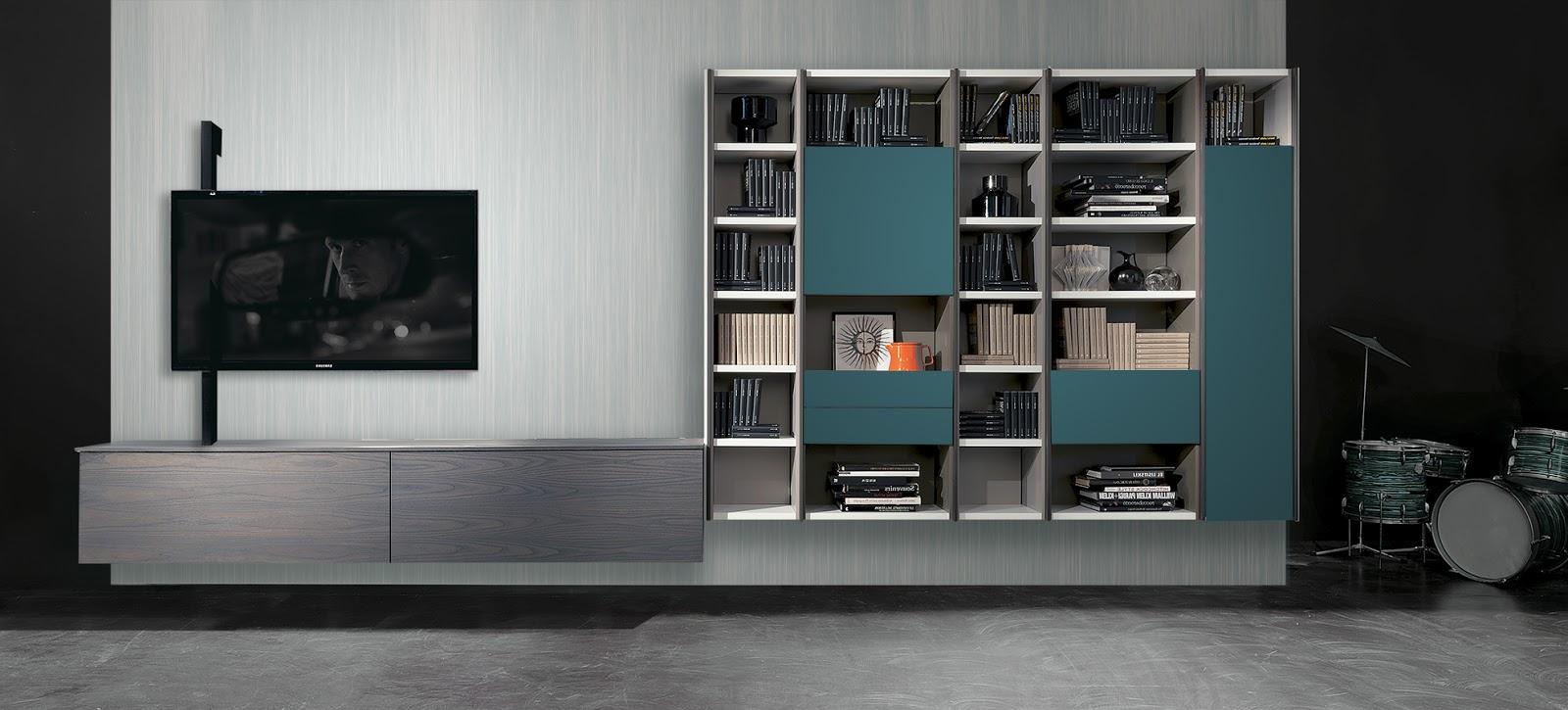 Porta Tv Rack.Fimar Mobili Idee Libreria Edis 3 Con Porta Tv Rack Flaf